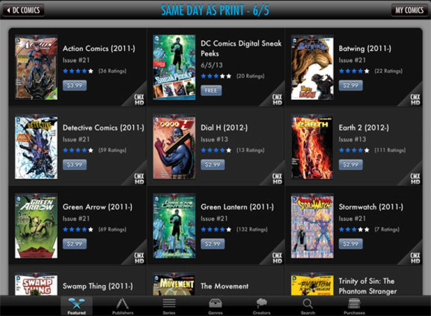 DC digital comics