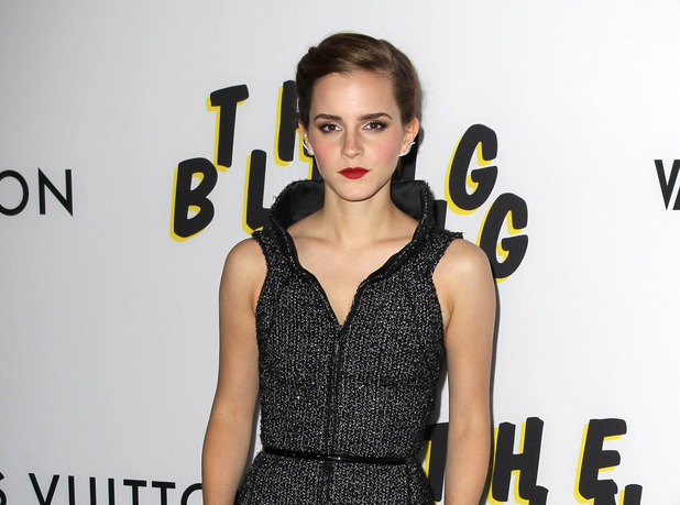 Emma Watson, Bling Ring LA premiere, wears Chanel, braids