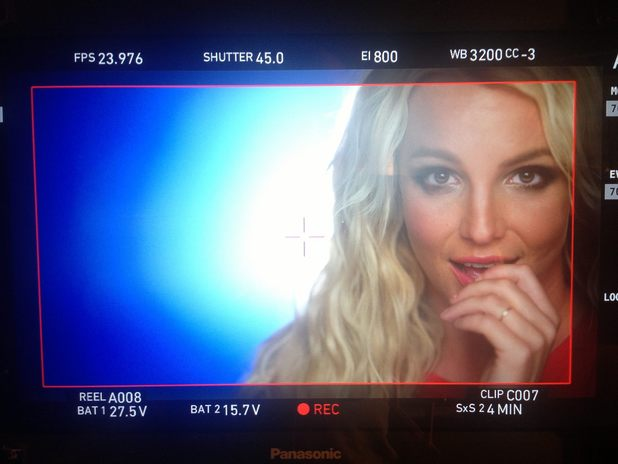 Britney in behind-the-scenes 'Ooh La La' music video still