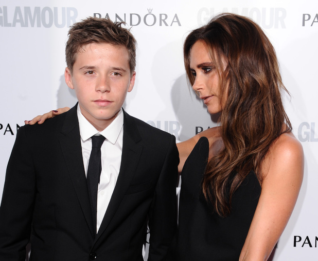 Glamour Women of the Year Awards 2013: Victoria Beckham with son Brooklyn