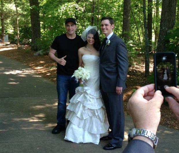 John Travolta joins a couple's wedding celebration