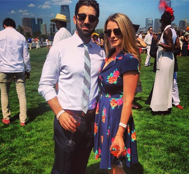Lo Bosworth poses with Jeremy Globerson.