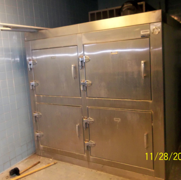 Morgue fridge being sold on Ebay