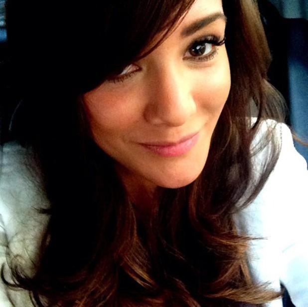 Frankie Sandford, new hair extensions