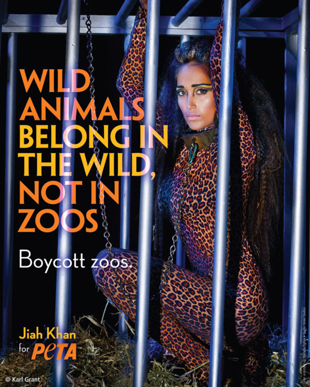 Jiah Khan Zoo campaign for PETA