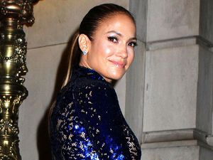 Jennifer Lopez, 4th Annual amfAR Inspiration Gala, New York, Tom Ford gown, sequined, sheer, lace