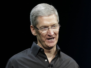 Apple CEO Tim Cook speaks during the keynote address of the Apple Worldwide Developers Conference