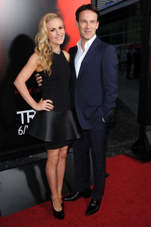 Premiere of HBO's 'True Blood' at ArcLight Cinemas Cinerama Dome, Anna Paquin, Stephen Moyer, David Koma dress