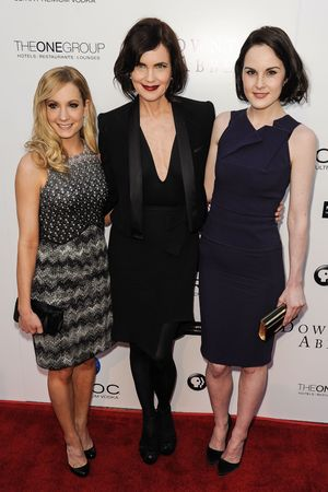 Joanne Froggatt, Elizabeth McGovern, Michelle Dockery, 'An Evening with Downton Abbey', Los Angeles, Red Carpet for An Evening with Downton Abbey Talent with panel Q and A held at Leonard H. Goldenson Theatre in North Hollywood, California