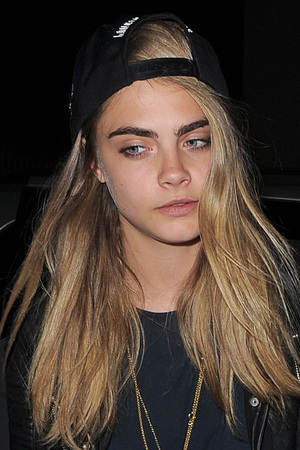 Cara Delevingne leaving Rihanna's hotel following her gig at Twickenham Stadium.