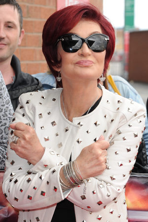 Sharon Osbourne arrives Old Trafford for The X Factor auditions.