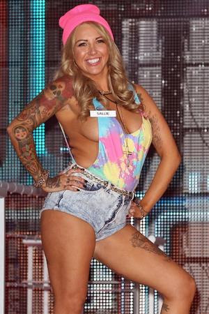 Sallie Axl enters the Big Brother house