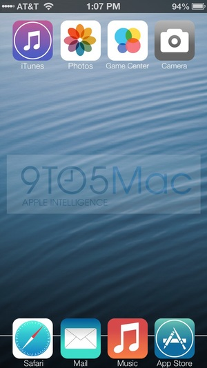 Mock-up image of Apple's iOS 7
