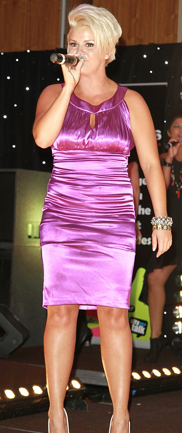 Kerry Katona performing at Cash for Kids charity event at Hilton Liverpool Hotel
