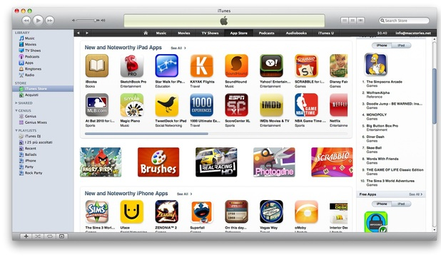 Screenshot of Apple's App Store