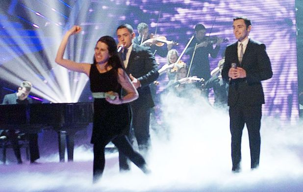 Violist Natalie Holt who pelted Simon Cowell with eggs