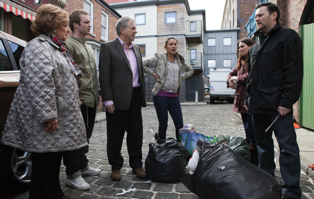 8146: Owen chucks Tina out of her flat in a bid to make her reconsider giving baby Jake to Gary and Izzy