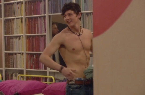 Sam strips on Day one of 'Big Brother: Secrets & Lies'