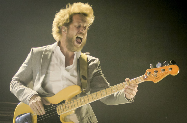 Mumford & Sons bassist Ted Dwane in concert in Calgary, Canada ~~ May 21, 2013