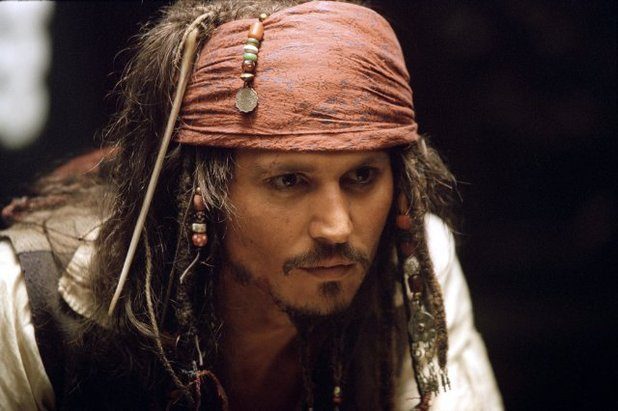 Johnny Depp in 'Pirates of the Caribbean: The Curse of the Black Pearl' (2003)