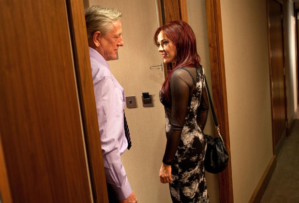 Sinead goes into Frank's hotel room.