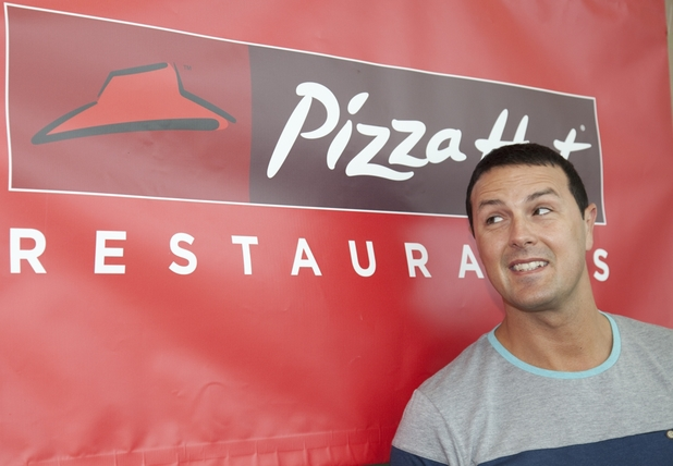 Paddy McGuinness promotes Pizza Hut