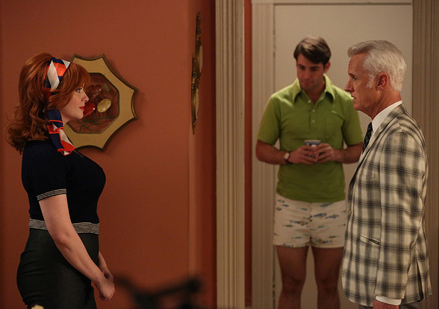 Joan Harris, Bob Benson and Roger Sterling in 'Mad Men'