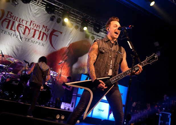 Matthew Tuck of Bullet for my Valentine in concert at 02 Academy - Birmingham