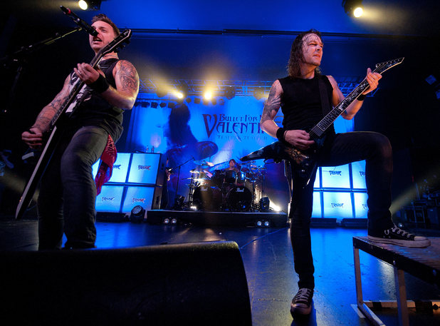 Matthew Tuck and Michael Paget of Bullet for my Valentine in concert at 02 Academy - Birmingham