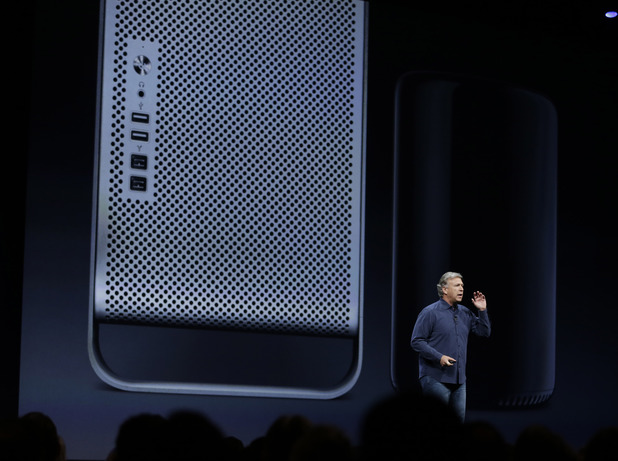 Phil Schiller the senior vice president of worldwide marketing at Apple introduces the new Mac Pro during the keynote address of the Apple Worldwide Developers Conference