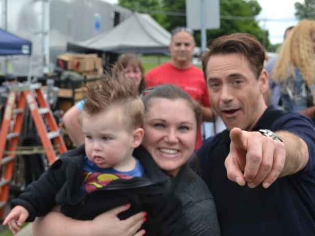 Robert Downey Jr, child cries