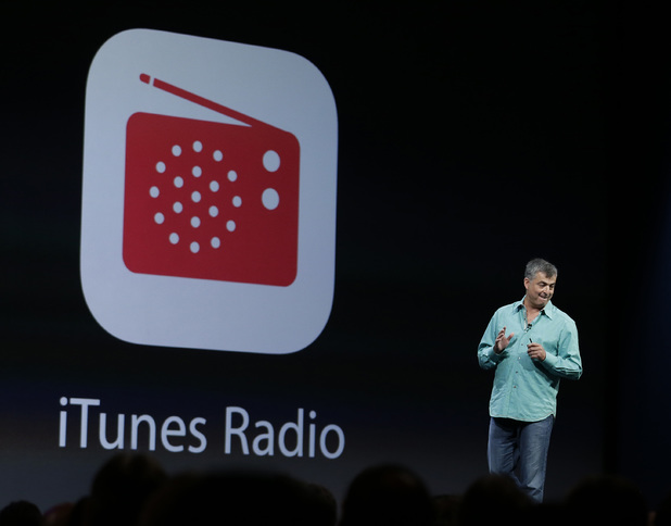 Eddy Cue the Apple senior vice president of Internet Software and Services introduces the new iTunes Radio during Apple WWDC 2013