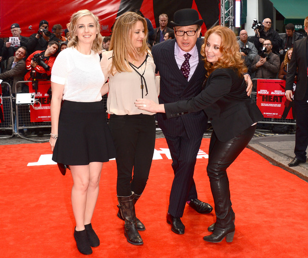 Jessica Chaffin, Paul Feig, Jamie Denbo & Katie Dippold are seen at the Gala Screening of The Heat at the Curzon Mayfair in London