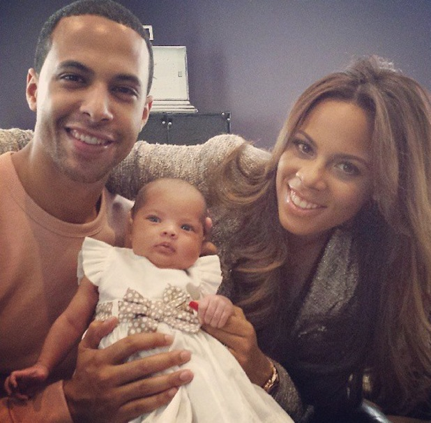 Rochelle and Marvin Humes debut their daughter Alaia-Mai