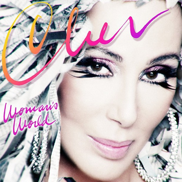 Cher 'Woman's World' single artwork.