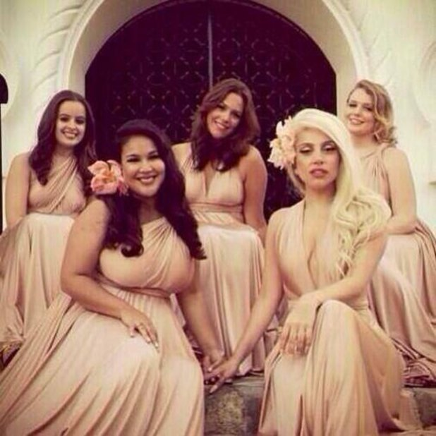 Lady GaGa at her best friend's wedding as maid of honour