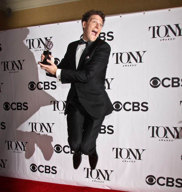 Gabriel Ebert accepts his Tony Award for 'Matilda the Musical' ~~ June 9, 2013