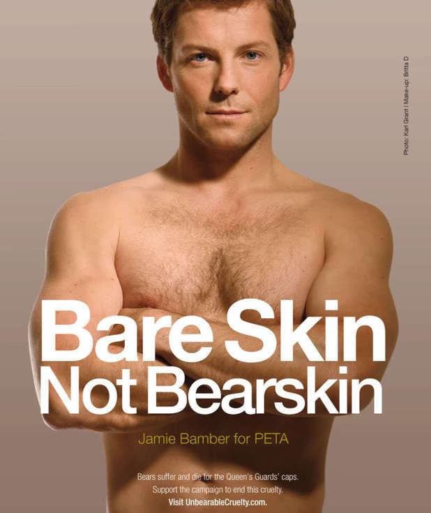 Jamie Bamber's nude PETA campaign poster