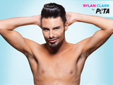 Rylan Clark poses naked for PETA