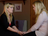 Tanya explains to Abi that she is leaving.