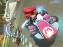 High definition Wii U entry Mario Kart 8 introduces hovercrafts and twisting courses.