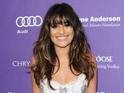 Actress says that Cory Monteith had listened to her album before his death.