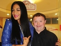 X Factor judge meets gymnast Greg Silvester during reception at Coca-Cola.