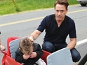 A 18-month-old fan wanted to meet Iron Man, not the actor himself.