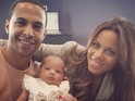 The JLS singer and Rochelle Humes welcomed daughter Alaia-Mai in May.