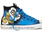 Homer, Marge, Bart, Lisa and Maggie get their own fashionable sneakers.