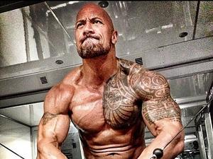Dwayne 'The Rock' Johnson trains for his movie Hercules