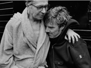 Gary Oldman and Benedict Cumberbatch on the set of 'Tinker Tailor Solider Spy'