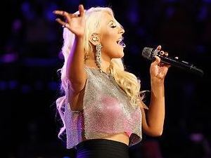 Christina Aguilera performs during the finale of 'The Voice'