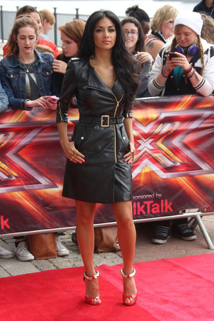 Nicole Scherzinger, X Factor auditions London, trench coat